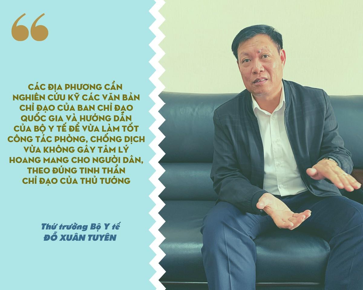 Thứ trưởng Đỗ Xuân Tuyên: Người đến từ vùng dịch không phải F1, F2 khuyến khích tự theo dõi sức khỏe ảnh 2