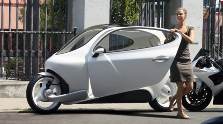 C-1, xe máy lai ôtô tự cân bằng của Lit Motors ảnh 1