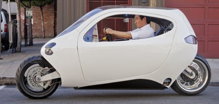 C-1, xe máy lai ôtô tự cân bằng của Lit Motors ảnh 3