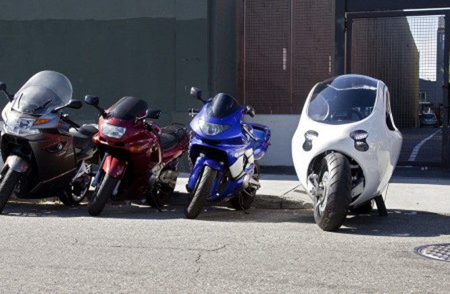 C-1, xe máy lai ôtô tự cân bằng của Lit Motors ảnh 4