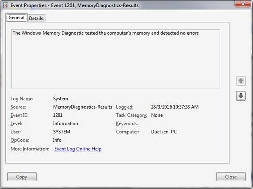 Thủ thuật định nhanh bệnh của bộ nhớ RAM ảnh 5