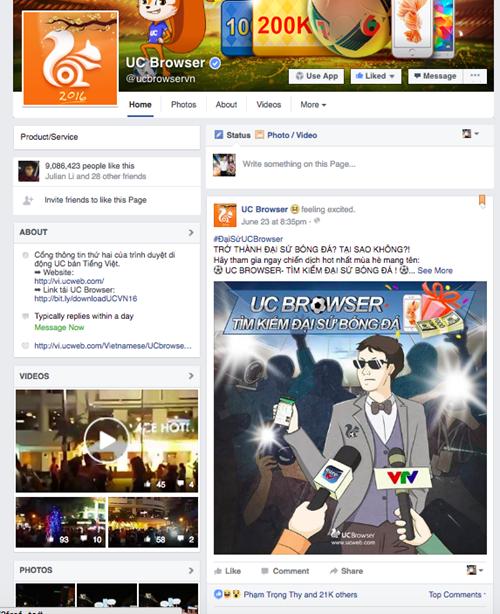 Công Vinh làm đại sứ cho trình duyệt UC Browser? ảnh 3