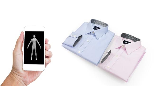 Đo may áo sơ mi bằng ứng dụng di động ảnh 1