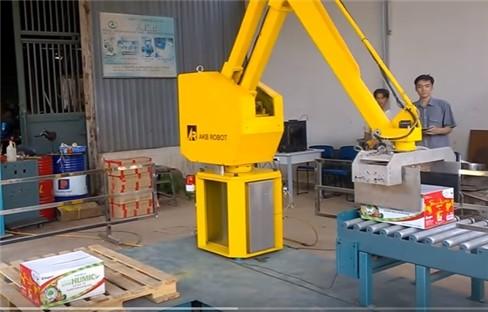 Robot bốc xếp hàng lên pallet ảnh 3