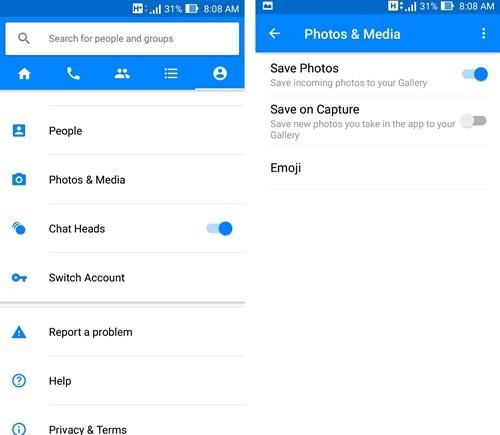 Ngăn Facebook Messenger tự động tải về hình ảnh ảnh 1