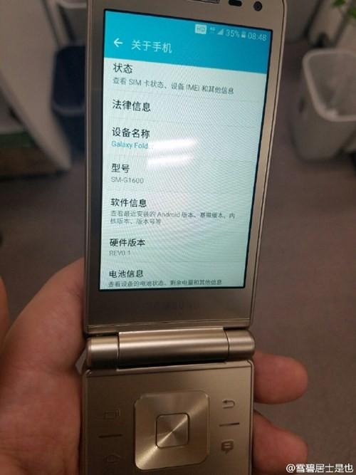 Lộ ảnh thực tế smartphone nắp gập Galaxy Folder 2 ảnh 7