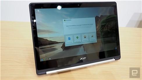 """Xem Acer Chromebook """"làm xiếc"""" xoay 180 độ ảnh 2"""