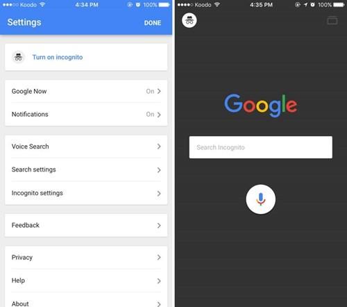 Google trên iOS hỗ trợ tìm kiếm ẩn danh ảnh 1