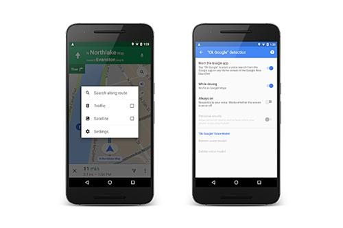 Google Maps hỗ trợ khẩu lệnh OK Google ảnh 1