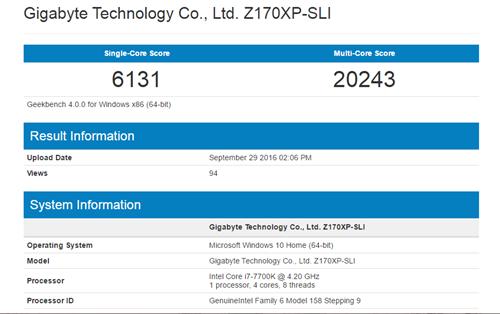 Đã có kết quả thử nghiệm BXL Intel Core i7-7700K ảnh 1
