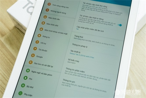 Cận cảnh máy tính bảng Samsung Galaxy A 2016 hỗ trợ S Pen