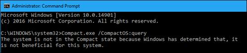 Windows 10: Tiết kiệm dung lượng đĩa cứng với CompactOS ảnh 1