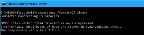 Windows 10: Tiết kiệm dung lượng đĩa cứng với CompactOS ảnh 2