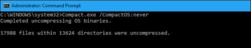 Windows 10: Tiết kiệm dung lượng đĩa cứng với CompactOS ảnh 3