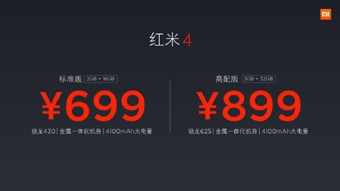Xiaomi Redmi 4/4A mới: Vân tay, pin 4.100mAh, giá dưới 3 triệu đồng ảnh 3