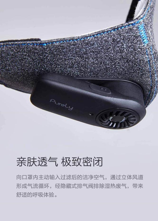 Khẩu trang lọc không khí Xiaomi PureLy giá 300.000VND ảnh 1