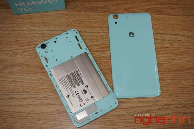 Mở hộp Huawei Y6II xanh ngọc giá 3 triệu vừa lên kệ ảnh 5