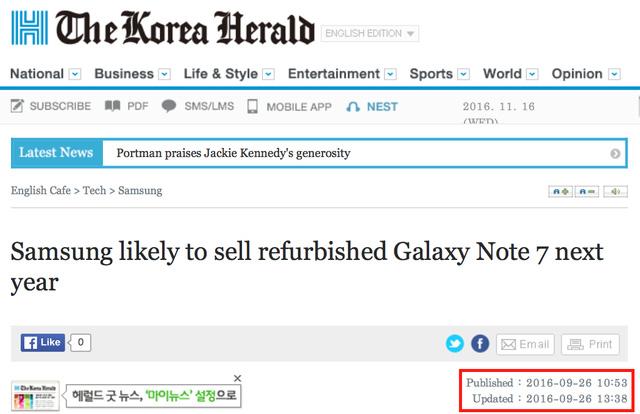 Samsung không bán Galaxy Note 7 dạng tân trang ảnh 1