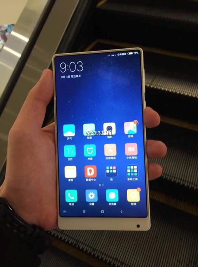 Xiaomi Mi MIX lộ bản màu trắng cực nữ tính ảnh 1