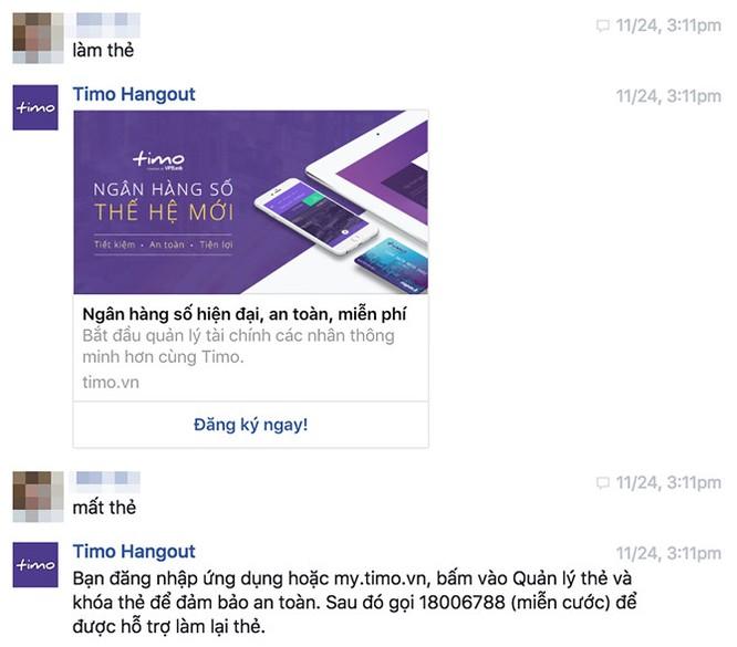 Ngân hàng số Timo giới thiệu Chat Bot tư vấn tự động ảnh 1