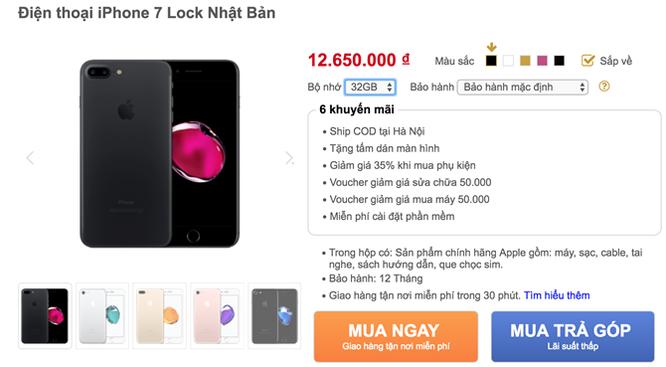 iPhone 7 lock đổ bộ về Việt Nam giá 13-15 triệu ảnh 2