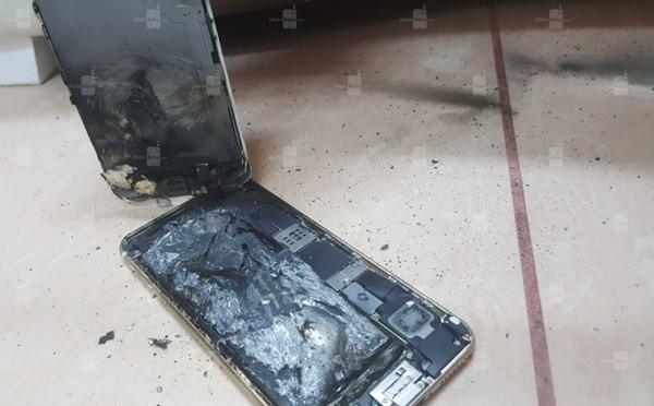 Apple iPhone 6S phát hỏa sau khi sạc ảnh 1