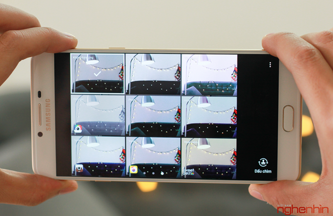 Khui hộp Galaxy C9 Pro: RAM 6GB, pin 4000mAh, selfie 16MP ảnh 12