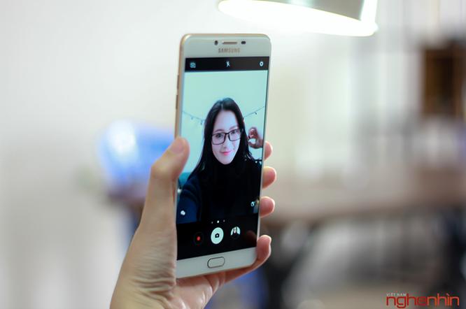 Khui hộp Galaxy C9 Pro: RAM 6GB, pin 4000mAh, selfie 16MP ảnh 13