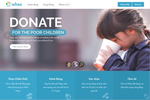 Làm từ thiện thời công nghệ với Whaa.life ảnh 1