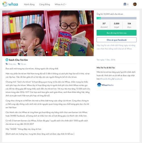 Làm từ thiện thời công nghệ với Whaa.life ảnh 2