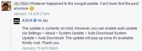 Asus ZenFone 3 sắp được lên Android Nougat ảnh 1