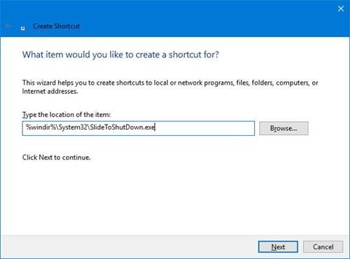 Windows 10: Kích hoạt tính năng Slide to shut down ảnh 1