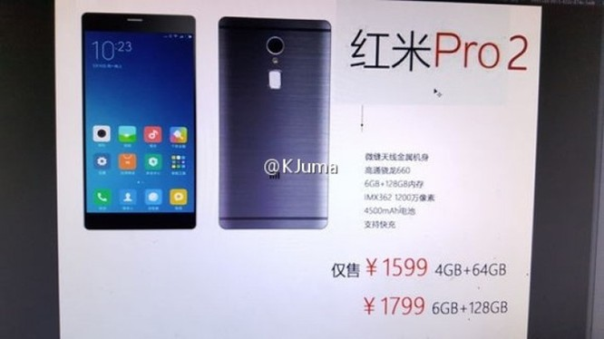 Xiaomi Redmi Pro 2: camera kép, pin 4.500mAh, giá 5,2 triệu ảnh 1