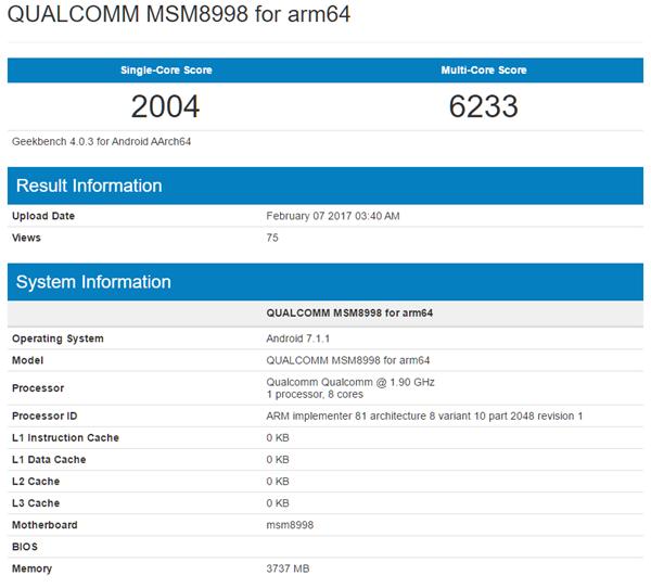 Tiếp tục rò rỉ hiệu năng Qualcomm Snapdragon 835 ảnh 1