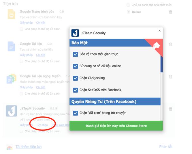 Tiện ích tắt thông báo 'Đã xem', 'Đang trả lời tin nhắn' Facebook ảnh 3