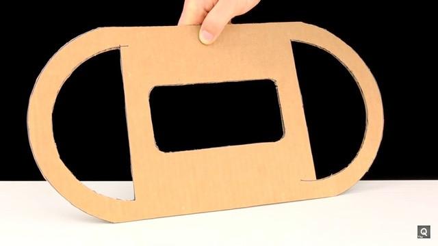Hướng dẫn cách tự chế vô-lăng chơi game đua xe chỉ bằng... bìa carton ảnh 4