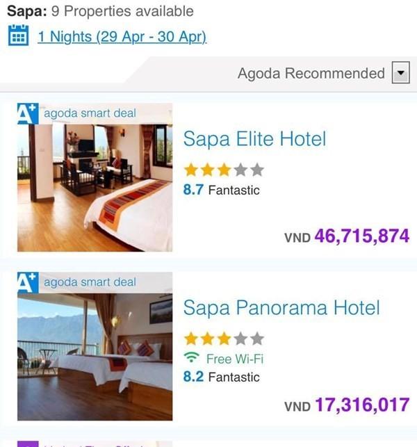 Khách sạn 3 sao ở Sapa hét giá 46 triệu/đêm ngày 30/4 ảnh 1