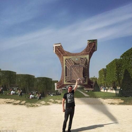 """""""Chết cười"""" với ảnh chế cùng tháp Eiffel của cư dân mạng ảnh 6"""