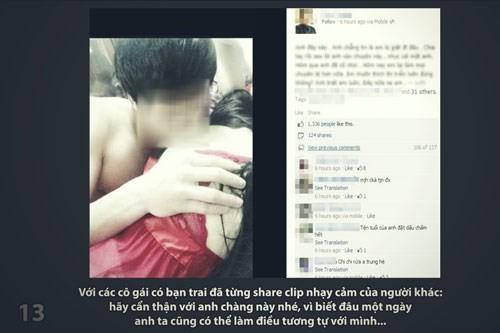 Câu chuyện tung clip sex và 'Hậu tình yêu thời Facebook' ảnh 12