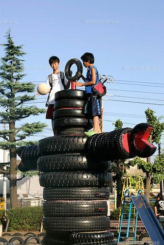 Mãn nhãn với tuyệt tác chế tạo từ lốp xe và rơm rạ của người Nhật ảnh 3