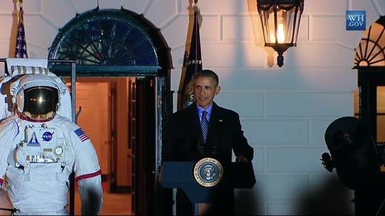 Tổng thống Obama hào hứng ngắm sao cùng Nhà Trắng ảnh 1