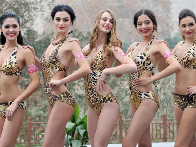 Bốc lửa 42 thí sinh trong trang phục bikini tham dự cuộc thi Hoa hậu các quốc gia năm 2015 ảnh 2