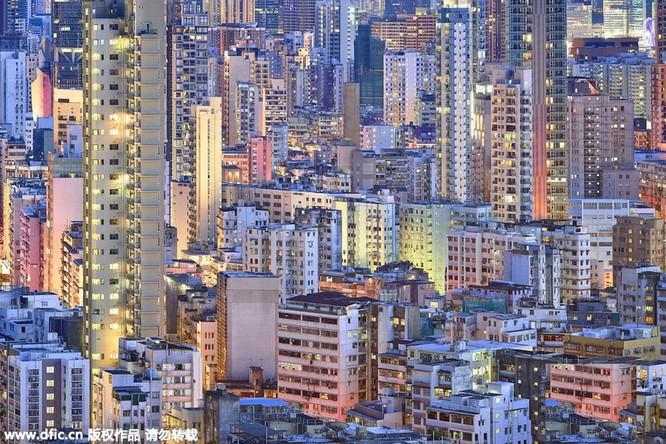 Khó tin trước mật độ công trình kiến trúc dày đặc ở Hồng Kông ảnh 1