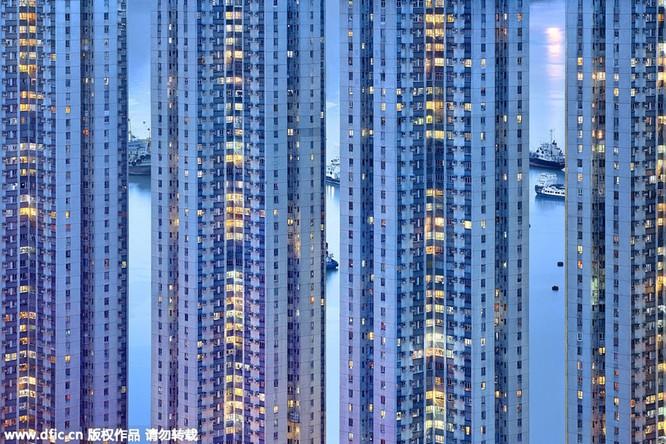 Khó tin trước mật độ công trình kiến trúc dày đặc ở Hồng Kông ảnh 4