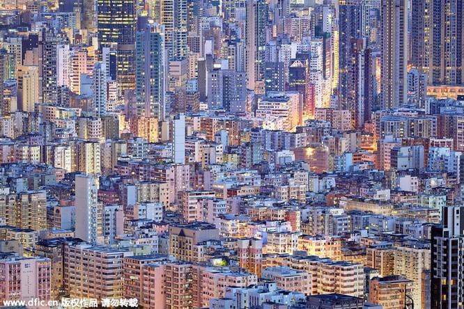 Khó tin trước mật độ công trình kiến trúc dày đặc ở Hồng Kông ảnh 2