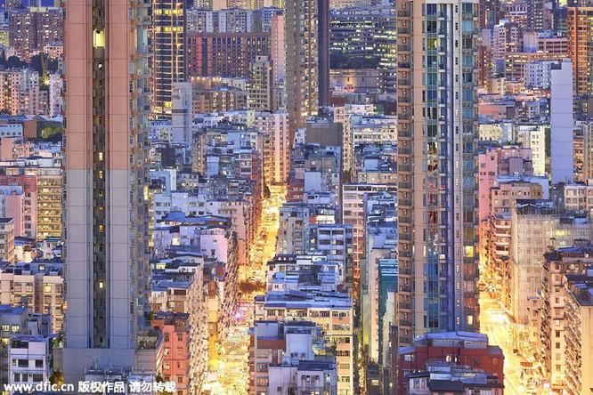 Khó tin trước mật độ công trình kiến trúc dày đặc ở Hồng Kông ảnh 5