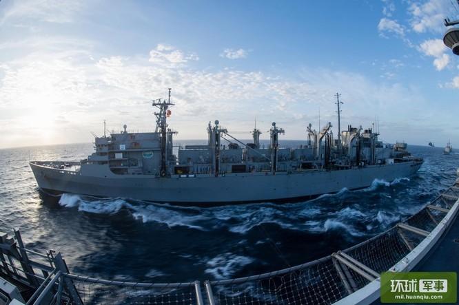 Chùm ảnh mới nhất về hoạt động hạm đội tàu sân bay Mỹ trên Biển Đông ảnh 1