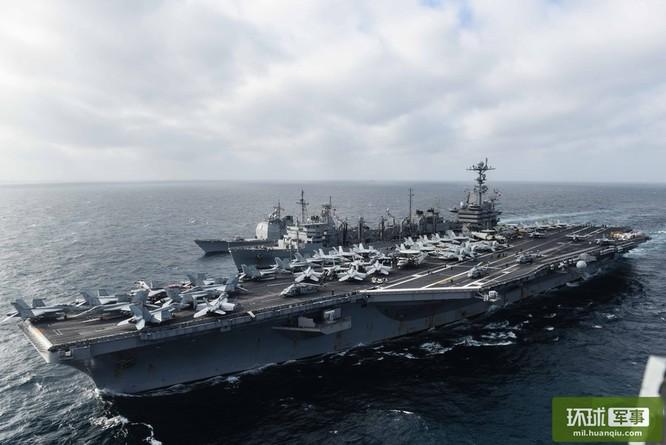 Chùm ảnh mới nhất về hoạt động hạm đội tàu sân bay Mỹ trên Biển Đông ảnh 14
