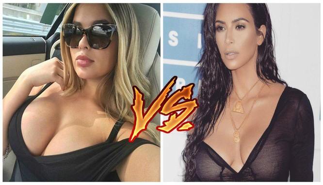 Siêu mẫu Nga nóng bỏng thách thức Kim Kardashian ảnh 11