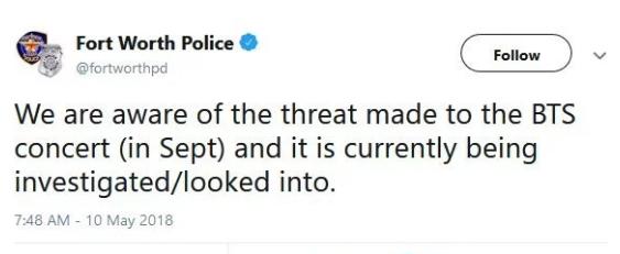 Chính quyền Texas phản ứng thế nào với lời đe dọa đến mạng sống của Jimin BTS ảnh 3